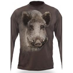 T-shirt SANGLIER (manches longues, Vert)