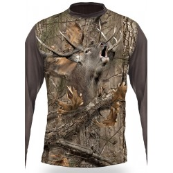 T-SHIRT CERF  (manches longues, Camo)