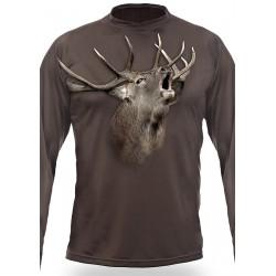 T-shirt Cerf (manches longues, Vert)