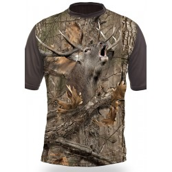 T-SHIRT CERF (manches courtes, Camo)