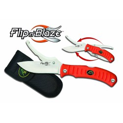 Flip n' Blaze Double lame Orange Outdoor Edge