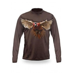 T-shirt Faisan (Manche longue Vert)