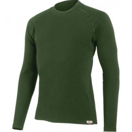 Polo Merino Manches Longues Vert