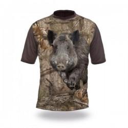 T-Shirt sanglier camo manches courtes