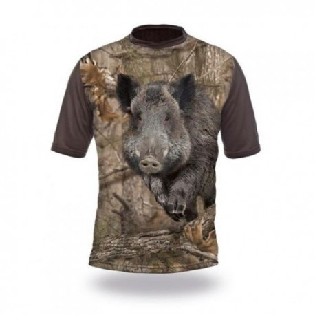 T-Shirt sanglier camo